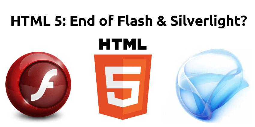 html5 end of flash and silverlight