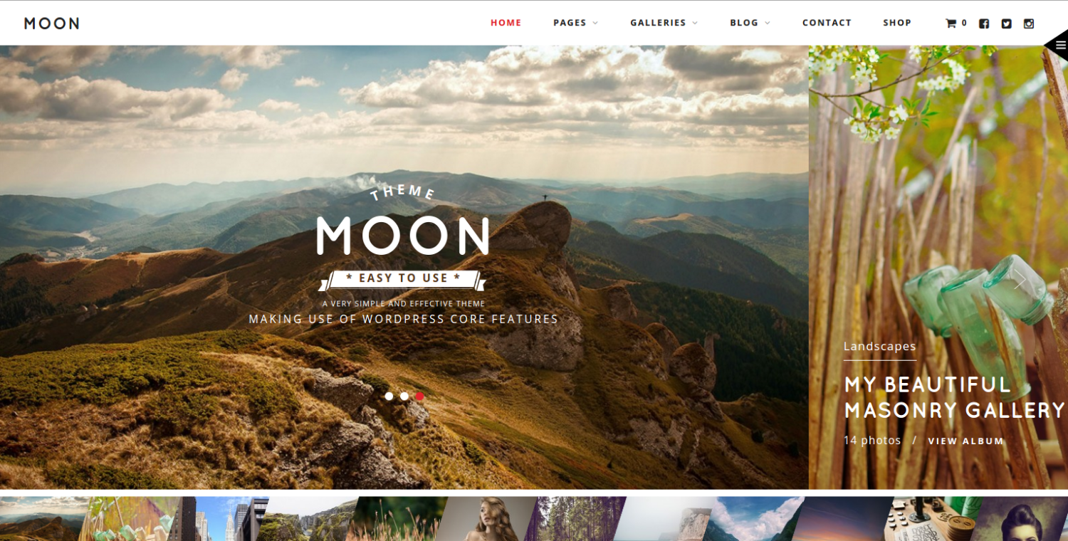 Moon WordPress Theme